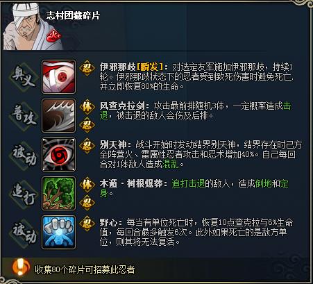 【图鉴】火影忍者ol志村团藏图鉴属性资料