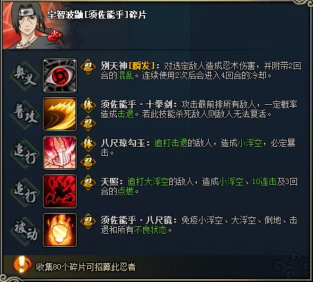 【图鉴】火影忍者ol宇智波鼬[须佐能乎]图鉴属性资料