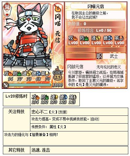 【合战】3月9日猫合战对阵信息公布