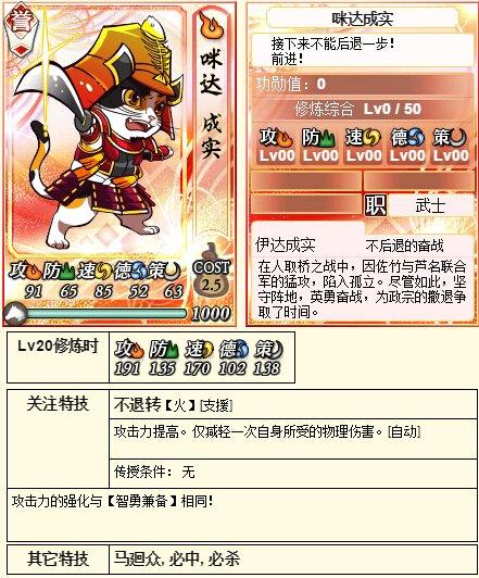 【喵将】全新伊达猫战记誉卡—咪达成实解析